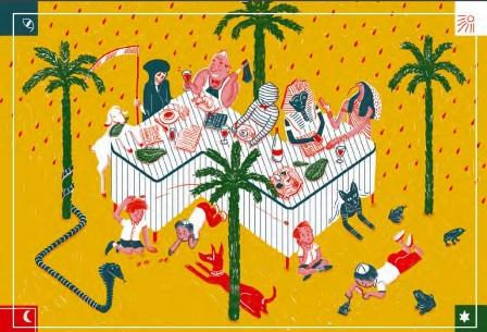 איורים מקוריים להגדה של פסח 2014 בתערוכה מבית