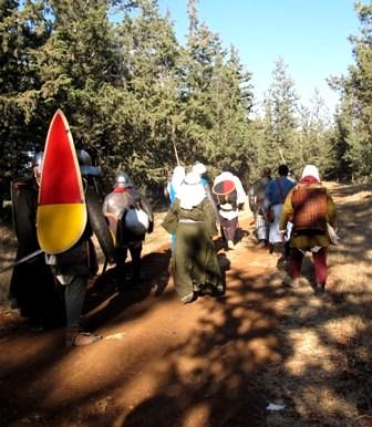מסע בחזרה לימי הביניים –מסע וקרב