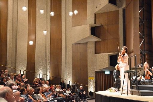 מלכה עם כינור, איימן מוסאחאג'ייבה מקזחסטן, בקונצרט בישראל