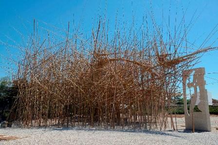 Big Bambu - מיצב אמנותי במוזיאון ישראל