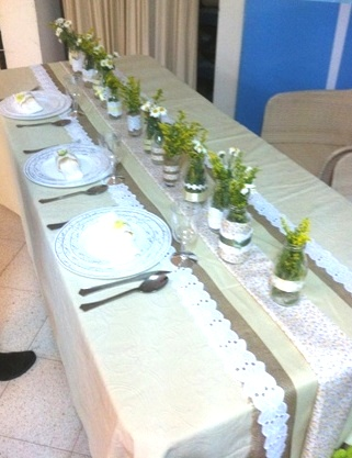 עיצוב שולחן החג לפי איריס מוסיוף